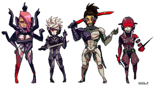 METAL GEAR RISING PIXELS by mizz-ninja