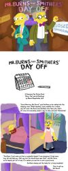 Mr. Burns and Smithers' Day Off by MissNeens