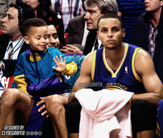 Stephen Curry | Past and Present | Graphic by ClydeGraffix