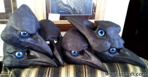 A murder of raven masks - WIP by Foxfeather248