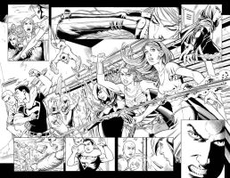 TEEN TITANS #90 Pg 18/19 DOUBLE-PG SPREAD! SOLD by DRHazlewood