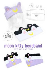 Moon Kitty Headband Sewing Pattern by SewDesuNe
