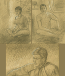 Enterprise T'Pol Reed Tucker Sketches by redsailor