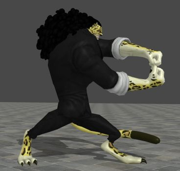 Rob Lucci - Rokuougan pose by TheForgottenSaint47