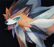 Dusk Lycanroc by GhosteKey