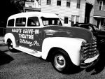Haar's Drive-In Theatre Car BW by TemariAtaje