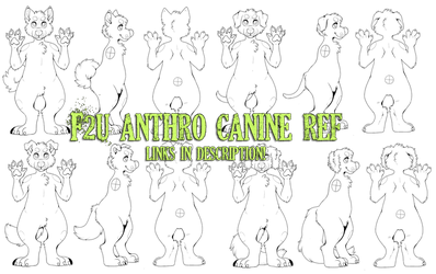(F2U} anthro canine ref lineart! [links in desc.] by kaijuparty