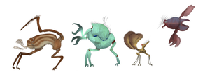 Extraterrestrial Arthropods by Dragonthunders