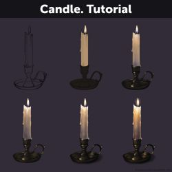 Candle. Tutorial by Anastasia-berry
