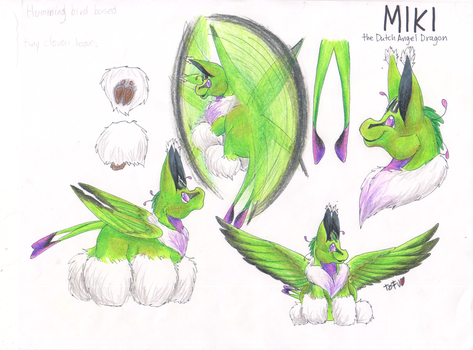 SOLD: Miki the Hummingbird Dutch Angel Dragon by RogueOfAmegakure
