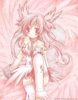 White and Pink Fantasy by Kaze-Hime