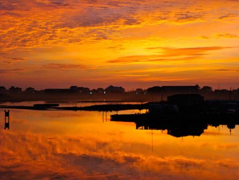 Topsail Sunrise by Athenawp