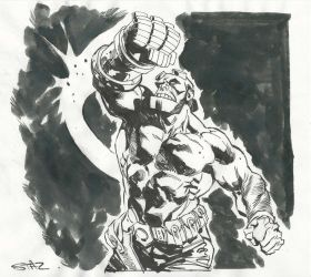 Hellboy inktober sketch by StazJohnson