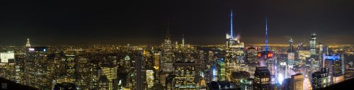 Panorama New York City: Top of the Rock by rotane