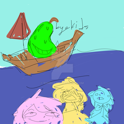 Biting Pear Has Fangirls In The Sea by Shiibeh