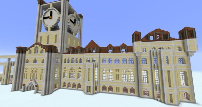 Yuletide village townhall WIP 2 by sinjun2501
