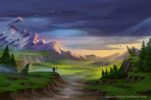 Mountain Valley by JordanKerbow