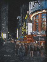 Times Square at Night by mbeckett