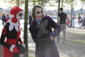Joker and Harley Quinn at Expo by Cazza2010