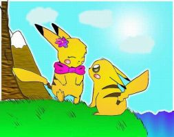 Pikachu's 1st love by Lilchan16