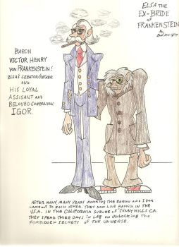 Elsa's creator Baron Frankenstein and Igor! by gothold