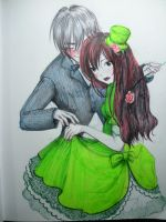Green Rose and Sebastian by Delight046