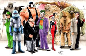 Batman's Rogues Gallery by Shawn-Langley