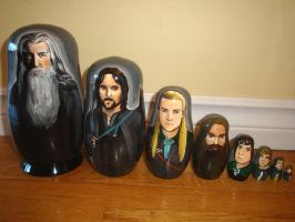 Set of Lord of the Rings Nesting Dolls by bachel60