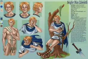 commission 30 Seigfer- character sheet by LadyDeddelit
