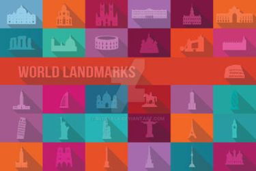 31 World Landmarks by BlueLela