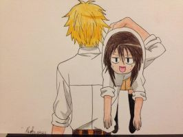 Maid-sama Usui and Misaki by martha1101