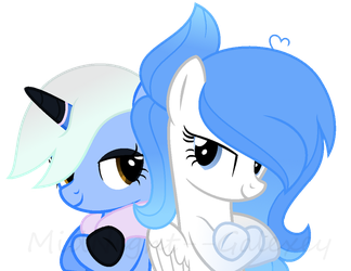 Nynx and Blue Star by MidNight--Galexey
