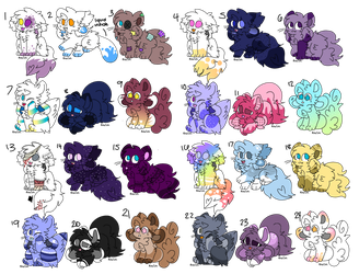 [OPEN] 1-24 Kittydog adopts by AppleScribble33