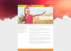 simple clean colorful children website by buddhadharmasangha