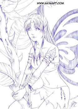 Fairy or Butterfly ? by Akina-art