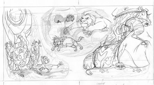 Lion King 1.5_pg8 and 9 spread by tombancroft