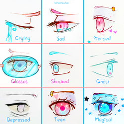 +Eye Expressions Sheet 4 + by larienne