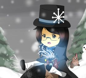 Chibi Emily (Oc) Snow Storm! by DinoLover123