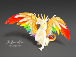 Gilraen, Rainbowing dragon (deluxe) by rosepeonie