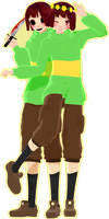 [MMD UNDERTALE] Chara (V1.1)[DL] by Ocuuda