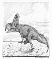 Protoceratops by Andalgalornis