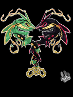 Roaring Skies: Rayquaza by InuMimi