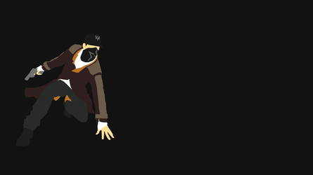 Aiden Pearce Minimalist Wallpaper - Watch Dogs by JoxSilverEagle