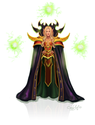 Diva the Blood Elf by CurlyJul