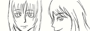 Practising with dA muro- girls face by NamisaKuroitori