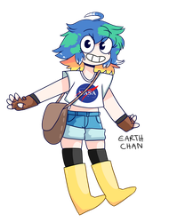 Earth chan by shgurr