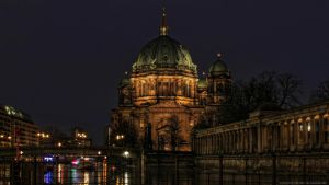 Berlin Cathedral by Night by pingallery