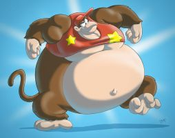 Giant sumo Diddy Kong by RickyDemont