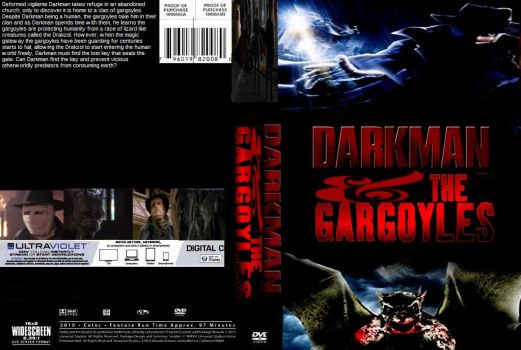 Darkman and The Gargoyles DVD cover by SteveIrwinFan96