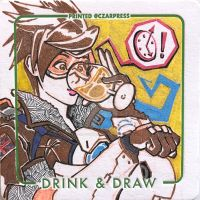 OW Tracer Coaster Sketch by mkmatsumoto
